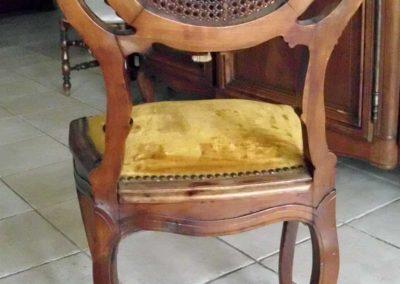 chaise rocaille avant